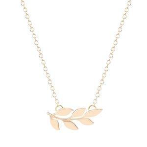 Dainty Gold Laurel Leaf Pendant Necklace